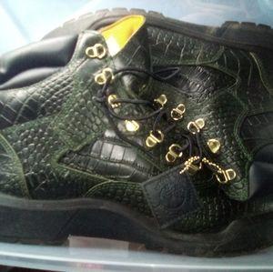 Alligator skin timberland boots